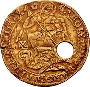 UK Angel Charles I (1625-1642) Tower KM# 149.2 CAROLVS D G MAG BRI FRA ET HIB REX X coin obverse