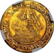 UK Angel (Elizabeth I) KM# E7 OA:DNO:FACTVM:ESTISTVD:ET:EST:MIRALI: coin reverse