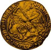 UK Angel James I (1619-1625) KM# 67 IACOBVS D:G: MAG:BRI:FRA:ET HIB:REX coin obverse