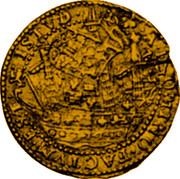 UK Angel James I (1619-1625) KM# 67 ..∙A∙DNO:..FACTVM∙EST∙ISTVD∙ coin reverse