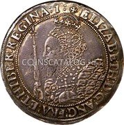 UK Crown (1601) Sixth Issue. Dav. #3757. KM# 7 Pre-Decimal coinage coin obverse