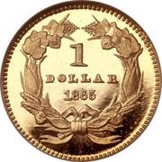 USA Dollar Indian Head - Type 3 1865 KM# 86 1 DOLLAR coin reverse