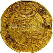 UK Double Crown (1625-1642) KM# 144 Pre-Decimal coinage coin reverse
