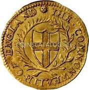 UK Double Crown 1650 KM# 394.1 Pre-Decimal Commonwealth coinage ·THE·COMMONWEALTH·OF·ENGLAND· coin obverse