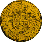 UK Double Crown Charles I (1631-1632) First milled Briot issue. KM# 169 CVLTORES∙SVI∙DEVS∙PROTEGIT∙ C R coin reverse