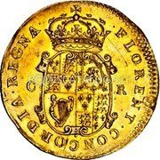UK Double Crown Charles II (1660-1662) KM# 414 ∙FLORENT∙ CONCORDIA∙REGNA∙ C R coin reverse