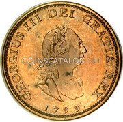 UK Farthing 1799 Proof KM# 646b Pre-Decimal coinage coin obverse