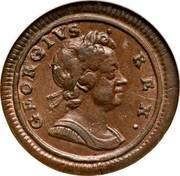 UK Farthing George I 1722 KM# 556 GEORGIVS ∙ REX ∙ coin obverse