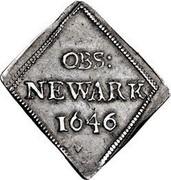 UK IX Pence Newark 1646 KM# 369.1 OBS: NEWARK coin obverse