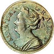 UK Penny Anne 1710 KM# 512 ANNA∙DEI∙ GRATIA∙ coin obverse