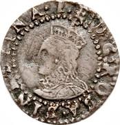 UK Penny Elizabeth I 1601 Sixth Coinage (1601-02). KM# 2 1∙E:D:G:ROSA:SIN...REGINA∙ coin obverse
