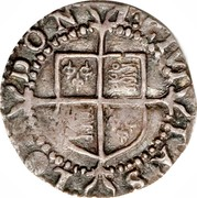 UK Penny Elizabeth I 1601 Sixth Coinage (1601-02). KM# 2 1:ETVI TAS LO...DON coin reverse