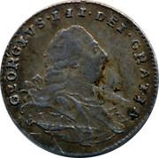 UK Penny George III 1800 KM# 614 GEORGIVS III DEI GRATIA coin obverse