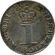 UK Penny George III 1800 KM# 614 MAG.BRI.FR ET.HIB.REX ∙ 1 coin reverse