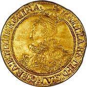 UK Pound Elizabeth I (1601) Sixth Issue. KM# D7 ELIZABETH∙D:G:ANG:FRA:ET∙HIB:REGINA∙ coin obverse