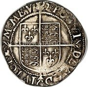 UK Shilling (1601) Sixth Issue (1601-02). KM# 5 Pre-Decimal coinage coin reverse