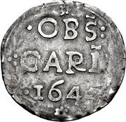 UK Shilling Charles I 1645 KM# 347 ∙OBS: ∙:CARL ∙1645 coin obverse