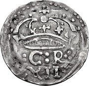 UK Shilling Charles I 1645 KM# 347 :C:R XII coin reverse