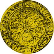 UK Spur Ryal James I (1604-1619) KM# 41 ∙A∙DNO:FACTVM∙EST∙ISTVD∙ET∙EST∙MIRABILE∙ coin reverse