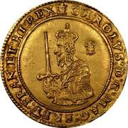UK Triple Unite Charles I 1642 Oxford KM# 233 CAROLVS∙D:G∙MAG:BRIT:FRAN:ET:HI:REX∙: coin obverse