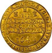 UK Triple Unite Charles I 1642 Shrewsbury KM# 232 III EXVRGAT:DEVS:DISSIPENTVR: INIMICI: RELIG: PROT :LEG: ANG :LIBER: PAR 1642 coin reverse