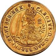 UK Triple Unite Charles I 1644 KM# 338 CAROLVS.D:G:MAG:BRI:FRA:E.HIBER:REX coin obverse