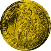 UK Triple Unite Charles I 1644 KM# 339 CAROLVS.D:G:MAG:BRI:FRA:E.HIBER:REX coin obverse