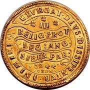 UK Triple Unite Charles I 1644 KM# 338 EXVRGAT.DEVS.DISSIPENTVR.INIMICI III RELIG:PROT:LEG:ANG:LIBER.PAR: 1644 OXON coin reverse