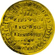 UK Triple Unite Charles I 1644 KM# 339 EXVRGAT.DEVS.DISSIPENTVR.INIMICI III RELIG:PROT:LEG:ANG:LIBER.PAR: 1644 OX coin reverse