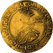UK Unite Charles I (1625-1642) Tower KM# 154.1 CAROLVS∙D:G:MAG:BR: FR:ET:HI:REX XX coin obverse