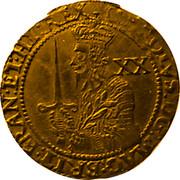 UK Unite Charles I 1642 Oxford KM# 229 CAROLVS∙D:G:MAG:BRIT: FRAN:ET:HI:REX XX coin obverse