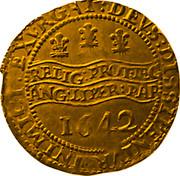 UK Unite Charles I 1642 Oxford KM# 229 EXVRGAT∙DEVS∙DISSIPENTVR∙INIMICI: ∙RELIG:PROT∙LEG:ANG:LIBER∙PAR 1642 coin reverse