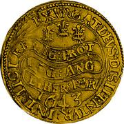 UK Unite Charles I 1643 Oxford KM# 254 EXVRGAT:DEVS:DISSIPENTVR: INIMICI: RELIG: PROT :LEG: ANG :LIBER: PAR 1643 coin reverse