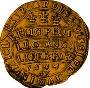 UK Unite Charles I 1644 Oxford KM# 336 EXVRGAT:DEVS:DISSIPENTVR: INIMICI: RELIG: PROT :LEG: ANG :LIBER: PAR 1644 OX coin reverse