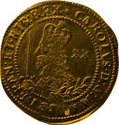 UK Unite Charles I 1646 Oxford KM# 345 CAROLVS∙D:G∙MAG:BRIT:FRAN:ET∙HIB:REX∙ XX coin obverse