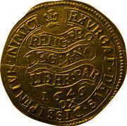 UK Unite Charles I 1646 Oxford KM# 345 EXVRGAT:DEVS:DISSIPENTVR: INIMICI: RELIG: PRO :LEG: ANG :LIBER: PAR *YEAR* OX coin reverse