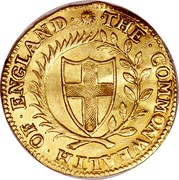 UK Unite Commonwealth of England (Sun) 1651 KM# 395.1 ∙THE∙COMMONWEALTH∙OF∙ENGLAND∙ coin obverse