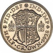 UK 1/2 Crown 1928 KM# 835 Pre-Decimal coinage coin reverse