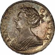 UK 1/2 Crown Anne no E no plumes 1708 KM# 525.1 ANNA ∙ DEI ∙ - GRATIA ∙ coin obverse