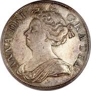 UK 1/2 Crown Anne Plumes 1708 KM# 525.3 ANNA ∙ DEI ∙ GRATIA ∙ coin obverse
