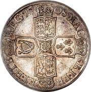 UK 1/2 Crown Anne Plumes 1708 KM# 525.3 MAG BRI ∙ FR ET ∙ HIB ∙ REG ∙ coin reverse