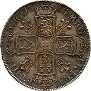 UK 1/2 Crown Anne Plumes in angles 1704 KM# 518.3 MAG - BR ∙ FRA - ET ∙ HIB - REG ∙ coin reverse