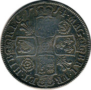 UK 1/2 Crown Anne Roses and plumes 1714 KM# 525.4 *YEAR*∙MAG BRI∙FR ET∙HIB REG∙ coin reverse