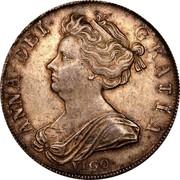 UK 1/2 Crown Anne VIGO no plumes 1703 KM# 518.2 ANNA ∙ DEI ∙ - GRATIA ∙ coin obverse