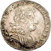 UK 1/2 Crown George I C and SS 1723 KM# 540.2 GEORGIVS ∙ D ∙ G ∙ M ∙ BR ∙ FR ∙ ET ∙ HIB ∙ REX ∙ F ∙ D ∙ coin obverse