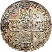 UK 1/2 Crown George I C and SS 1723 KM# 540.2 BRVN - ET ∙ L ∙ DVX - S ∙ R ∙ I ∙ A ∙ TH ET ∙ EL ∙ 17 23 coin reverse