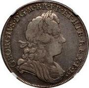 UK 1/2 Crown George I Roses and plumes 1717 KM# 540.1 GEORGIVS ∙ D ∙ G ∙ M ∙ BR ∙ FR ∙ ET ∙ HIB ∙ REX ∙ F ∙ D ∙ coin obverse