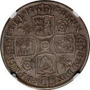 UK 1/2 Crown George I Roses and plumes 1717 KM# 540.1 BRVN ET ∙ L ∙ DVX S ∙ R ∙ I ∙ A ∙ TH ET ∙ EL ∙ coin reverse
