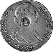 UK 1/2 Dollar 1772-1788 (1797) CM Date: ND(1797) KM# 622.2 Bank of England CAROLUS III∙DEI∙G∙ ∙*YEAR*∙ coin obverse
