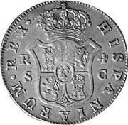 UK 1/2 Dollar 1772-1788 (1797) CM Date: ND(1797) KM# 622.2 Bank of England HISPANIARUM∙REX∙ R S 4 C coin reverse